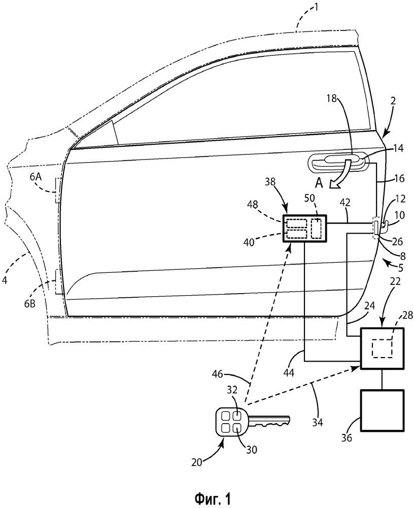 Дверной замок и бесключевая система дверного замка для дверей транспортных средств (варианты)