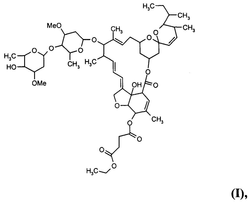 Этиловый эфир 5-о-сукцината авермектина в1, способ его получения и антипаразитарное средство на его основе