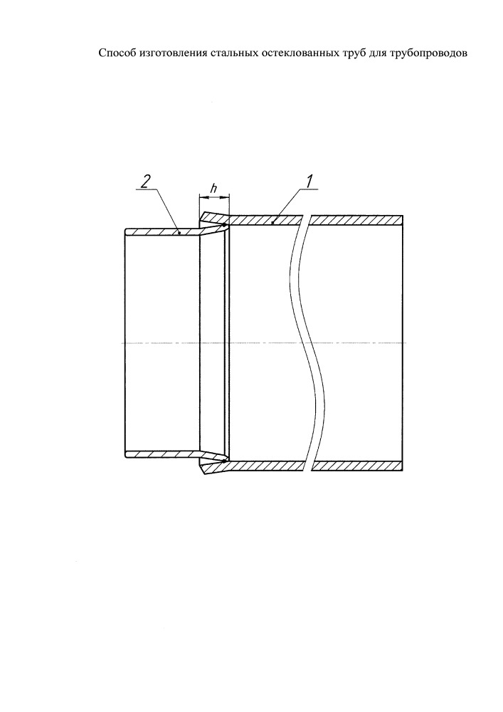 Способ изготовления стальных остеклованных труб для трубопроводов