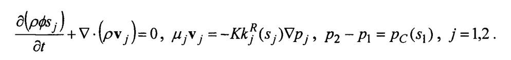 Способ многомасштабного моделирования нелинейных процессов подземной гидродинамики