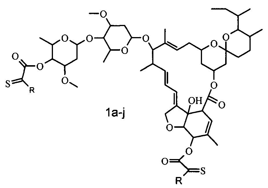 5,4-бис[(арил)амино](тиоксо)ацетаты ивермектина, способ их получения и антипаразитарные средства на их основе