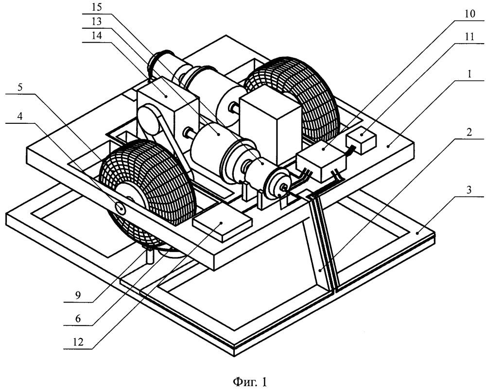 Стенд для исследования движения нагруженного мобильного робота при наличии проскальзывания колёс