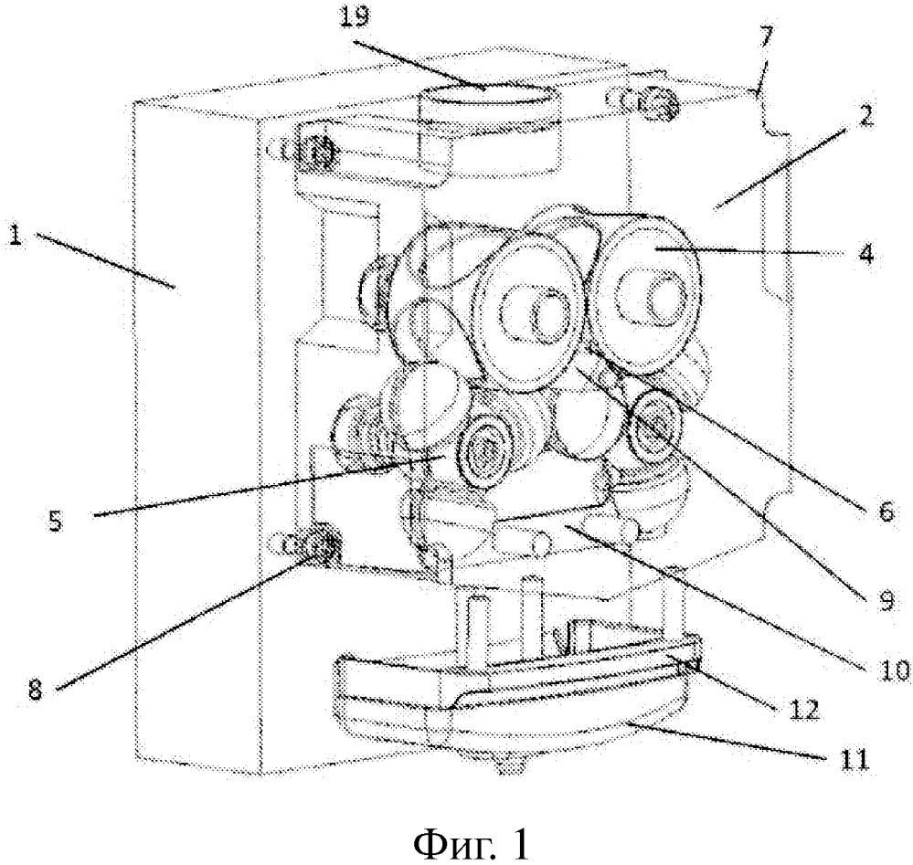 Усовершенствованная автоматическая соковыжималка с взаимным соединением всего узла отжима с помощью опоры независимо от приводного узла