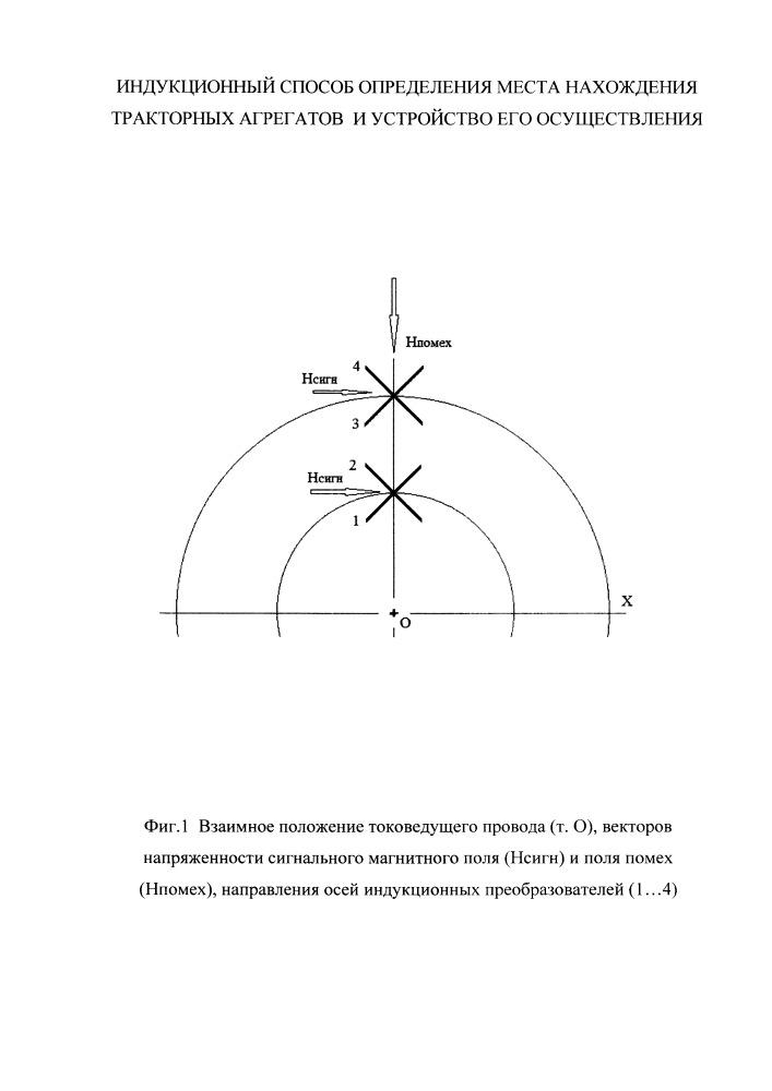 Индукционный способ определения места нахождения тракторных агрегатов и устройство его осуществления