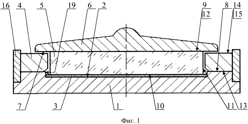 Устройство для изготовления заготовки фотокатода фотоэлектронного прибора термокомпрессионным соединением полупроводниковой пластины со стеклянной заготовкой