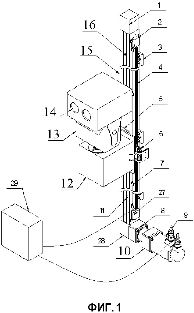 Интеллектуальная инспекционная робототехническая система на направляющей, предназначенная для работы в помещении