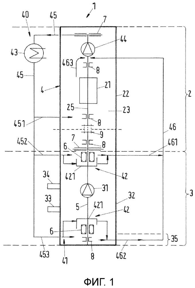 Роторная машина и способ теплообмена в роторной машине