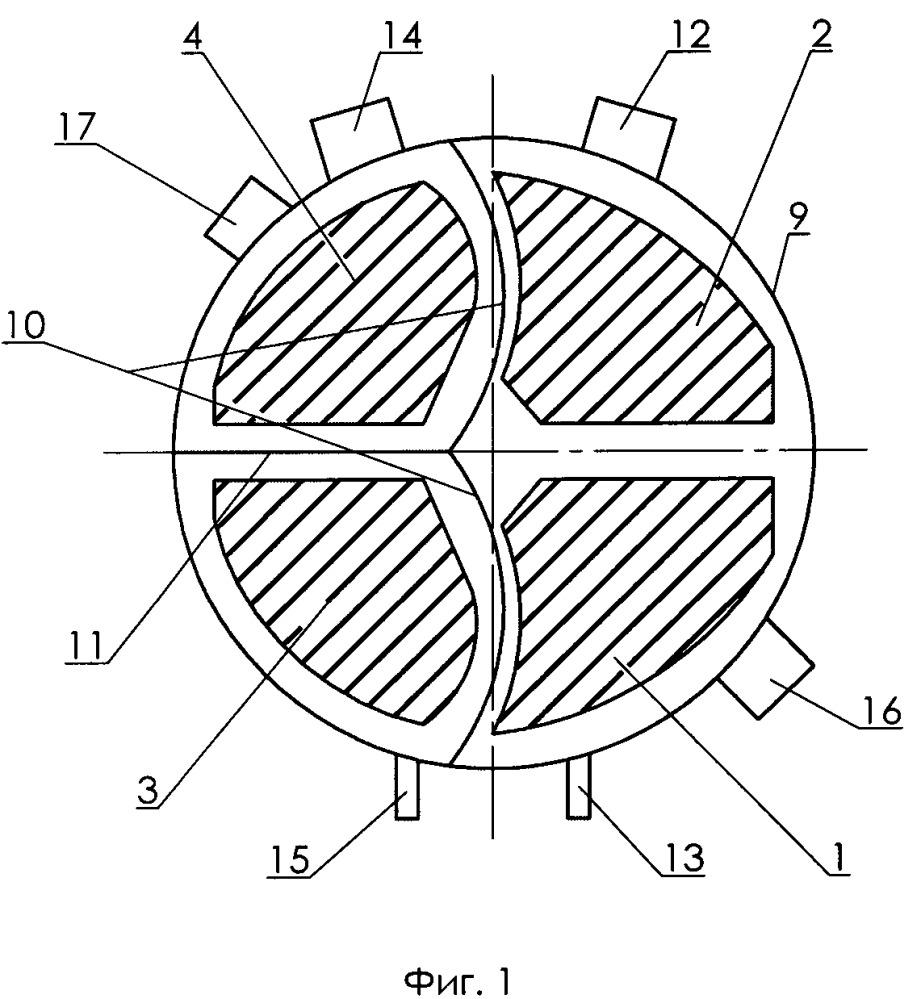 Многоходовый горизонтальный сетевой подогреватель