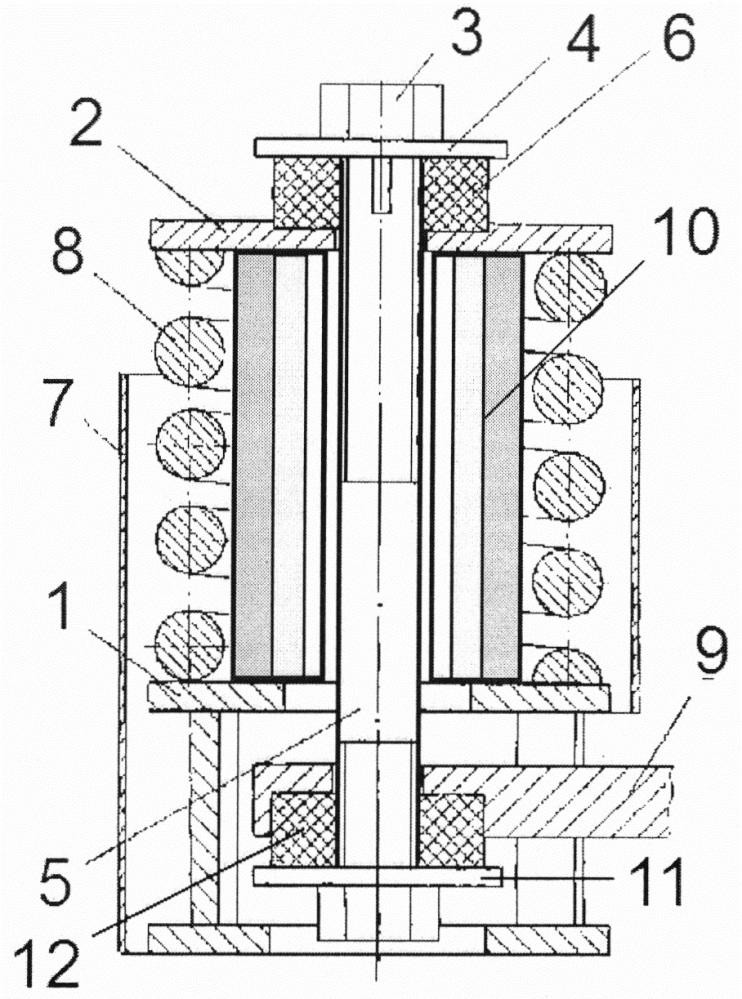 Пружинный виброизолятор с демпфером