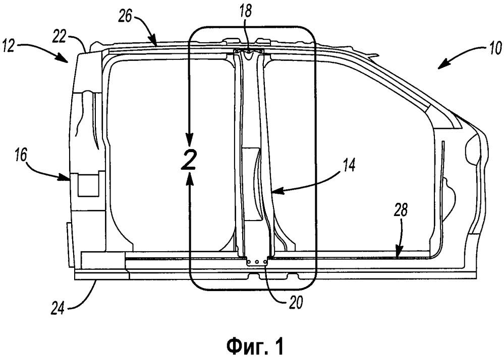 Способ сборки конструкции кузова в транспортном средстве и модульная конструкция кузова для транспортного средства