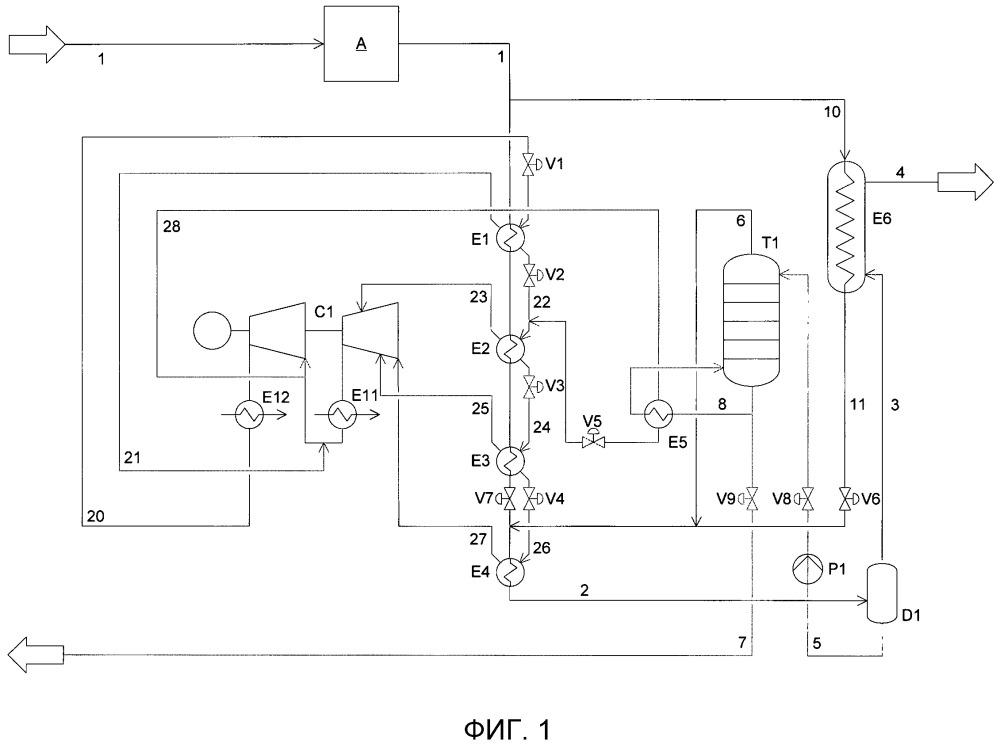Способ удаления кислотных газов из природного газа