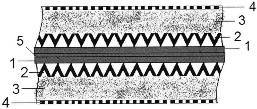 Симметричный звукопоглощающий элемент