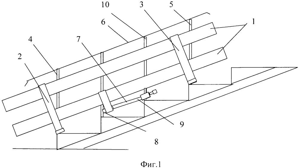 Пандус и устройство регулирования угла закрутки троса для него