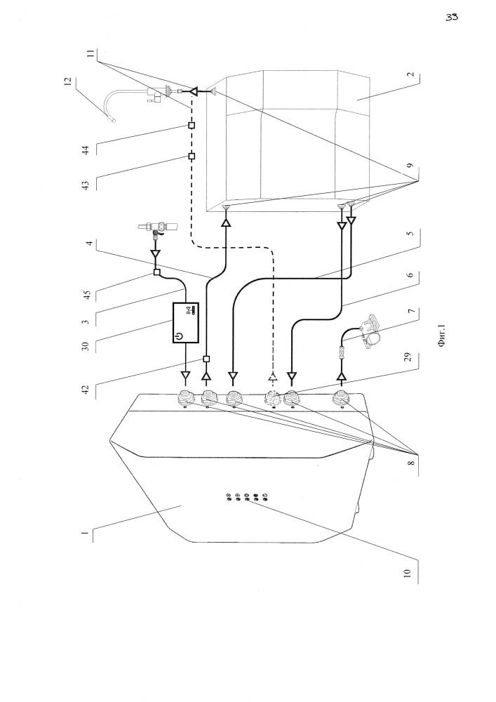 Система обратноосмотического фильтрования, измерительный блок и способ получения данных о состоянии системы обратноосмотического фильтрования