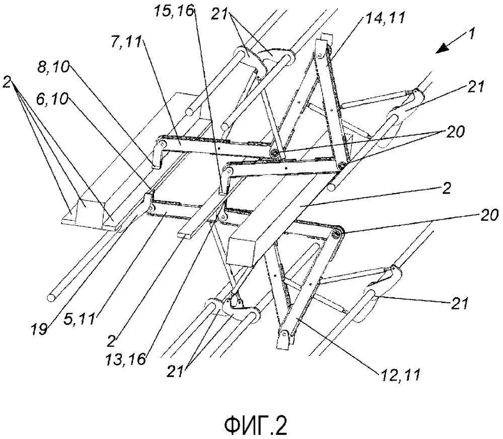 Подающее устройство для передачи заготовок пиломатериала
