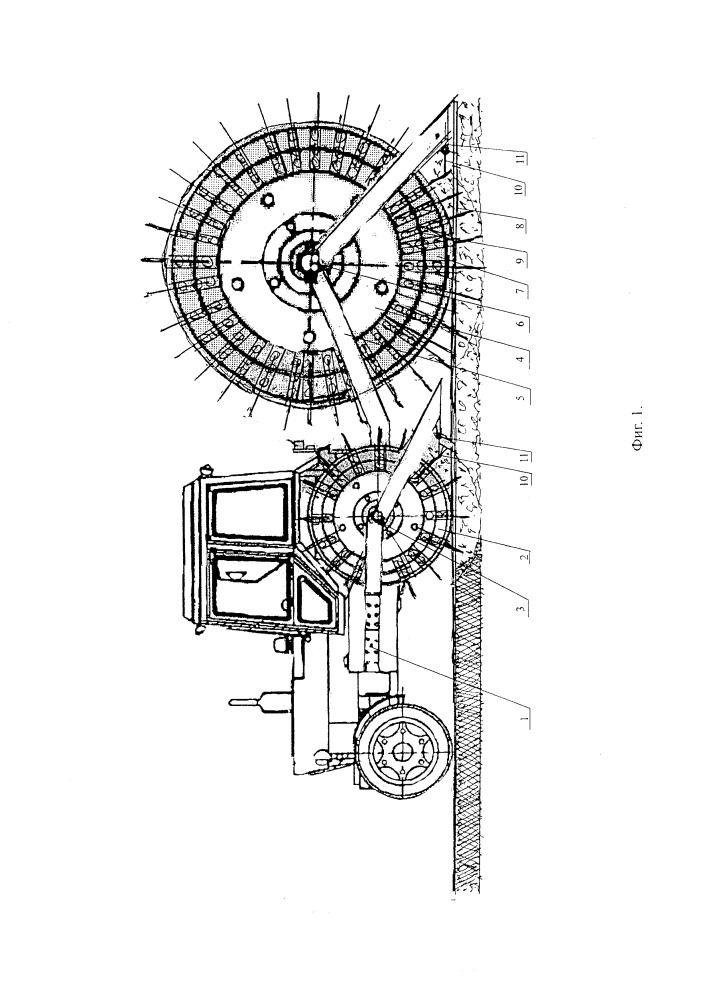 Способ и устройство основной глубокой вертикально-штыревой обработки почвы