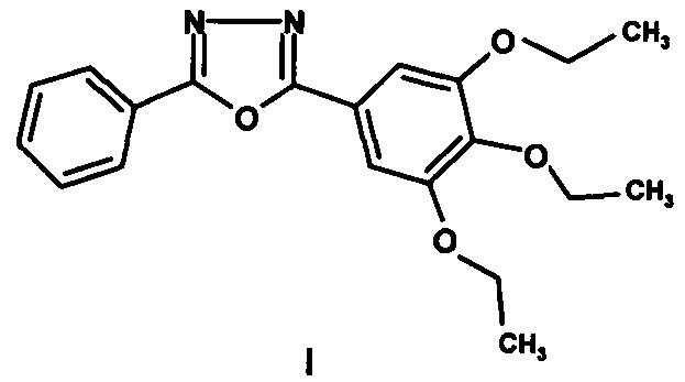 2-фенил-5-(3,4,5-триэтоксифенил)-1,3,4-оксадиазол с люминесцентной активностью