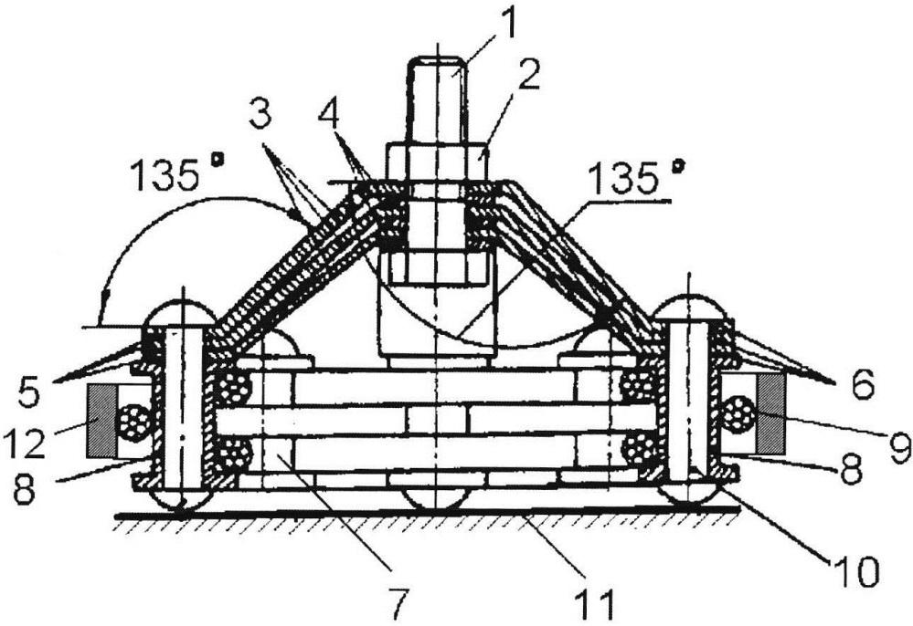 Виброизолятор с тросовым демпфером