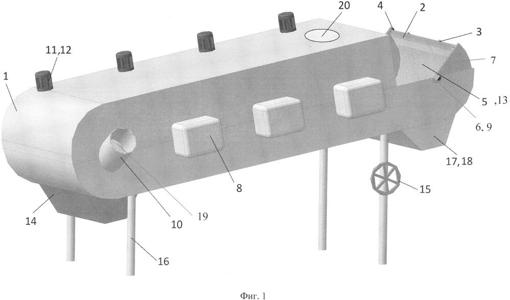 Сверхвысокочастотная установка для термообработки непищевых отходов убоя животных в непрерывном режиме