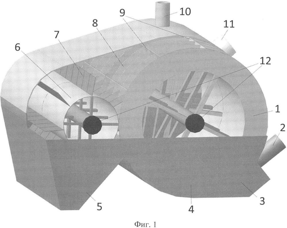 Сверхвысокочастотная установка с ячеистыми барабанами для термообработки непищевых отходов убоя животных