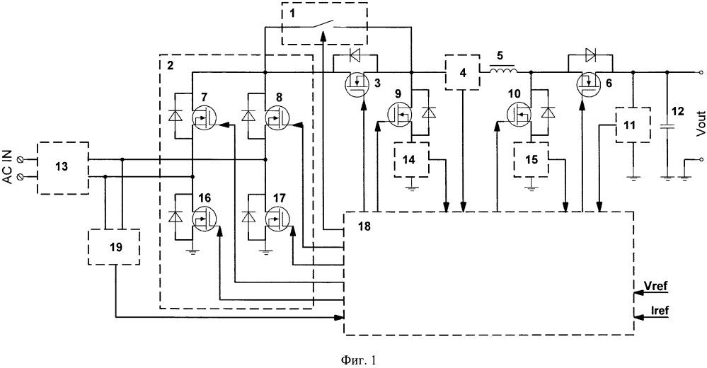 Реверсивный корректор коэффициента мощности и способ управления реверсивным корректором коэффициента мощности