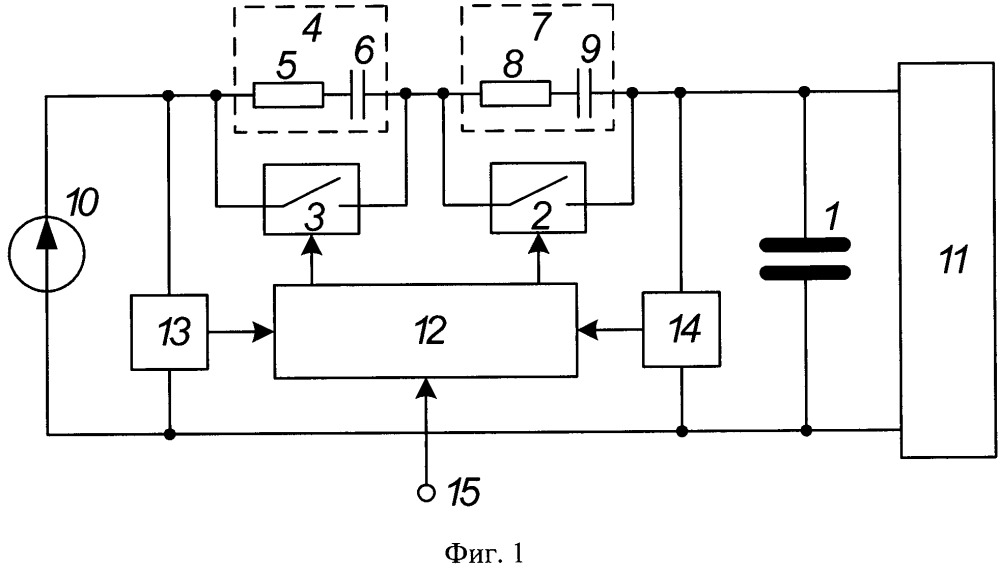 Способ зарядки накопительного конденсатора от источника постоянного тока