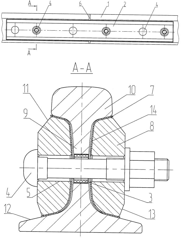 Электрически изолирующее неразъемное рельсовое стыковое соединение