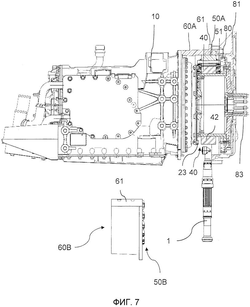 Стартер-генератор коленчатого вала и корпус для стартера-генератора коленчатого вала