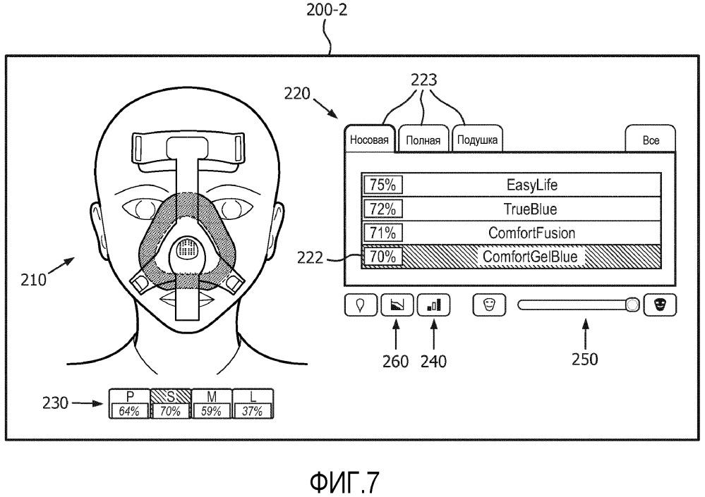 Система выбора интерфейсного устройства пациента и способ, основанный на трехмерном моделировании