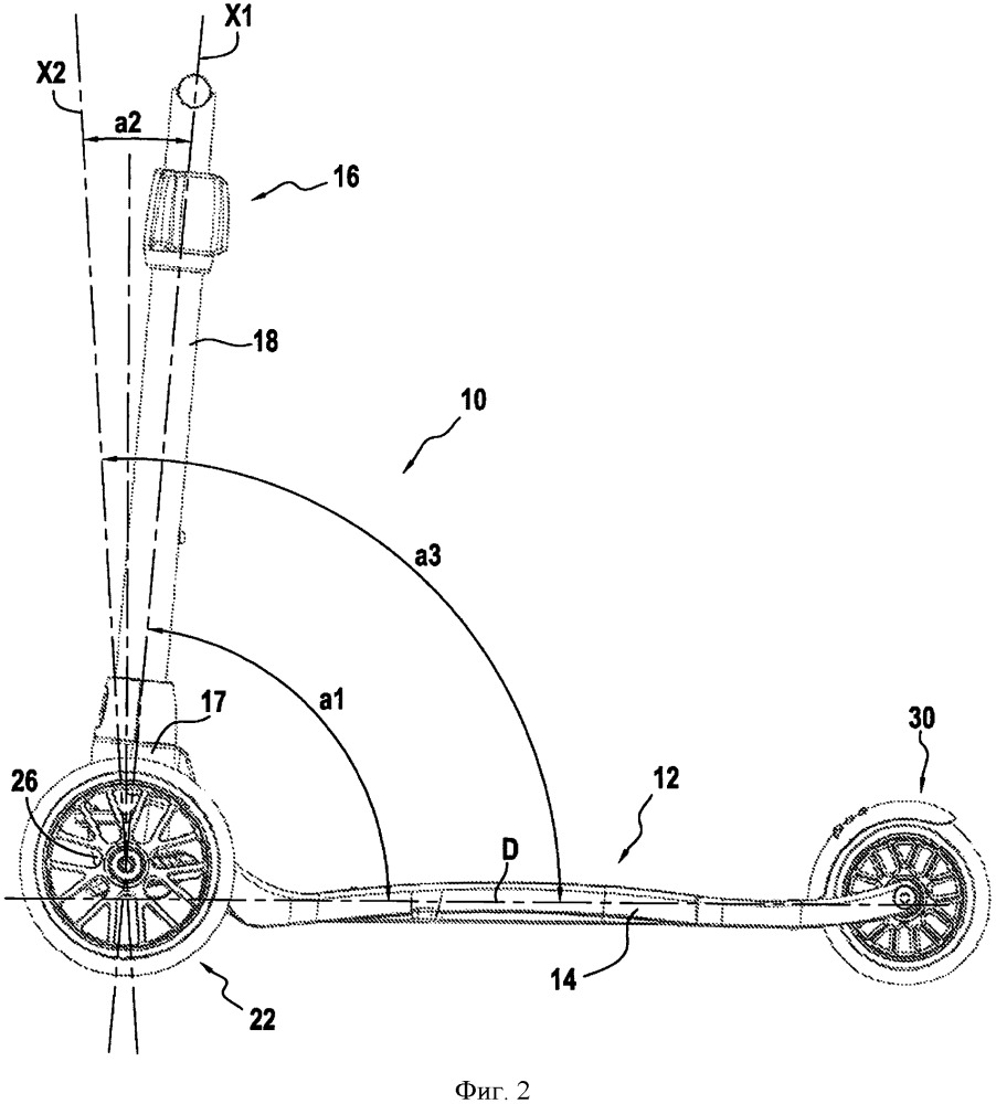 Транспортное средство с наклонной рулевой колонкой