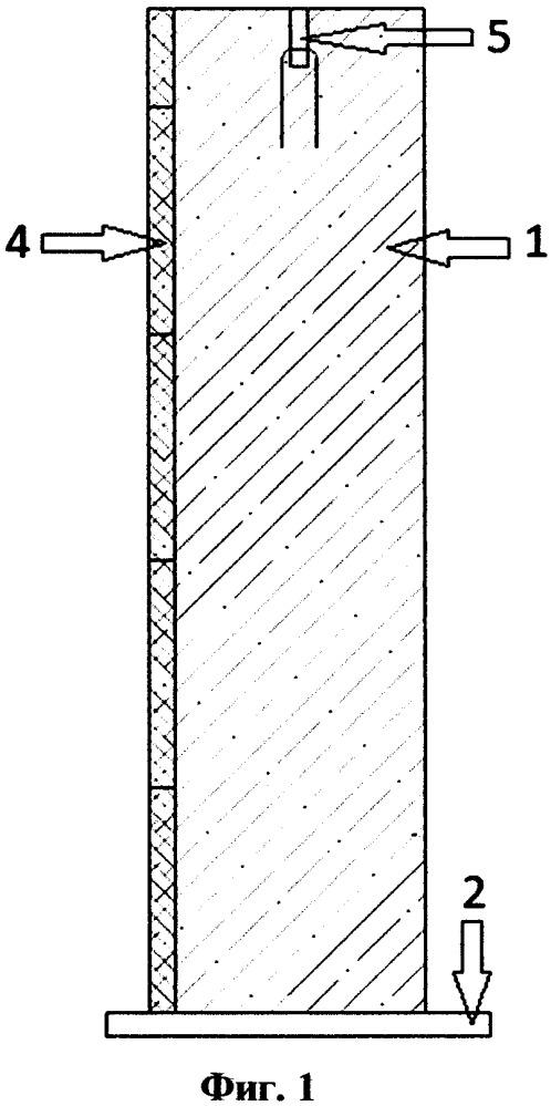 Стойка композитная из армированного бетона с шумопоглощением и способ ее производства