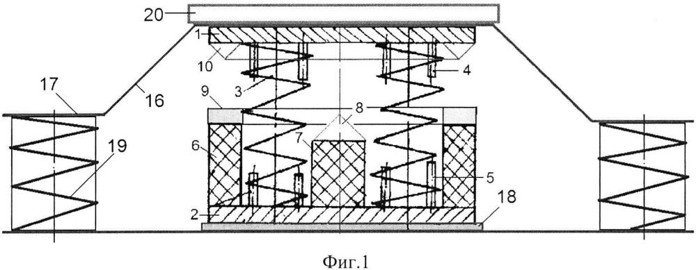 Виброизолированная платформа с демпфирующей пружиной