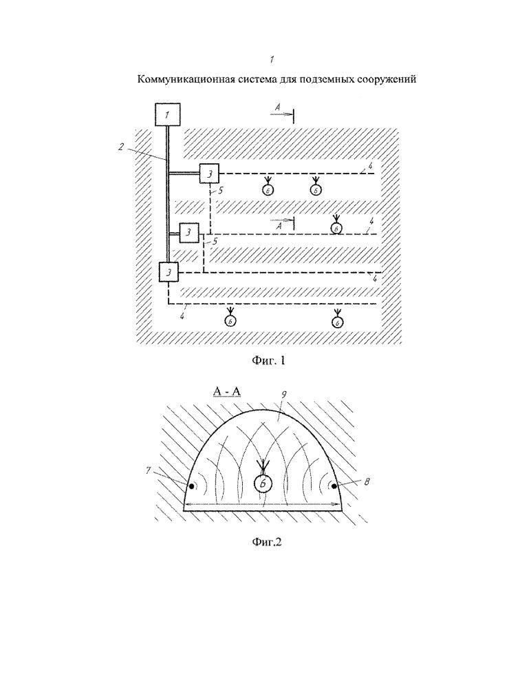 Коммуникационная система для подземных сооружений
