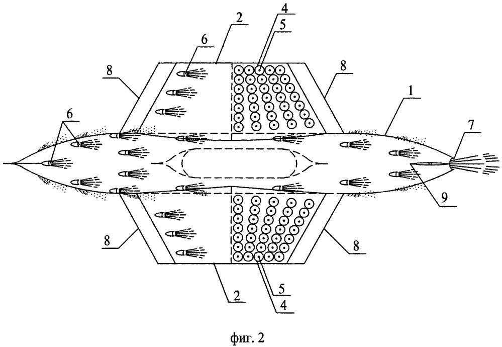 Гибридный подводный движитель