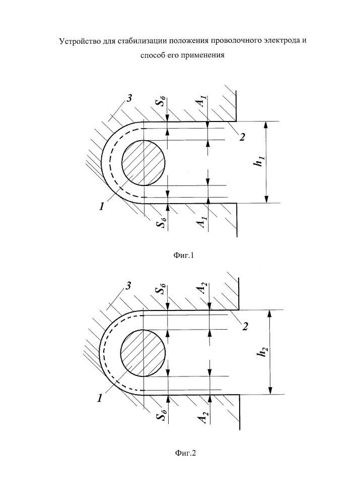 Способ стабилизации положения проволочного электрода и устройство для его применения