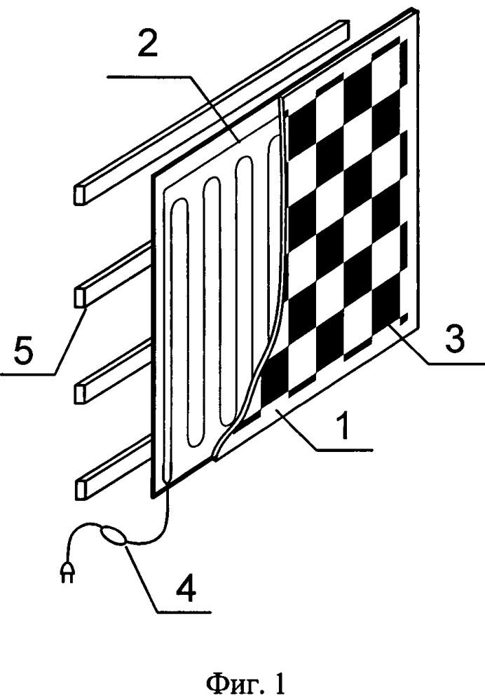 Тестовый шаблон для калибровки видеодатчиков многоспектральной системы технического зрения