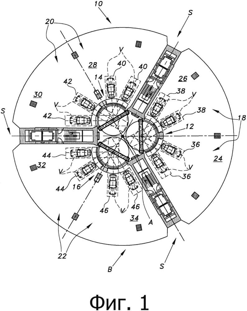 Подъемная система для пассажиров и транспортных средств