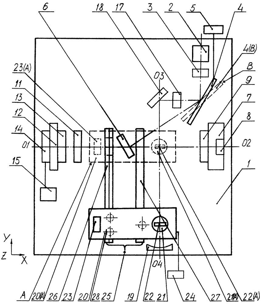 Спектрометр комбинационного рассеяния с совмещением микро- и макрорежимов для химического и структурного анализа веществ