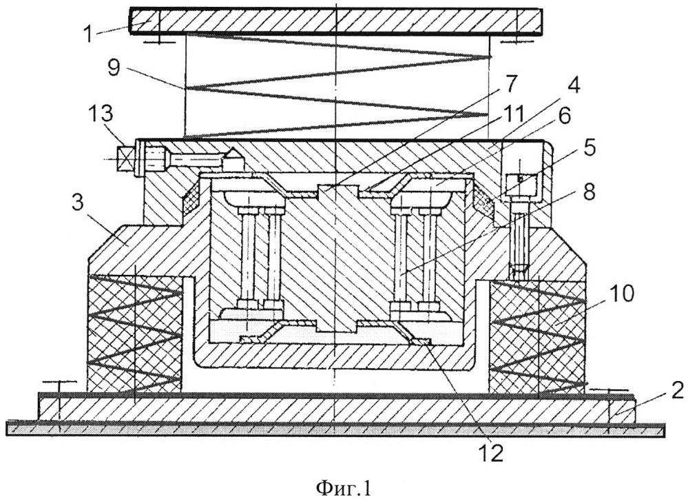 Двухкаскадный виброизолятор с динамическим гасителем