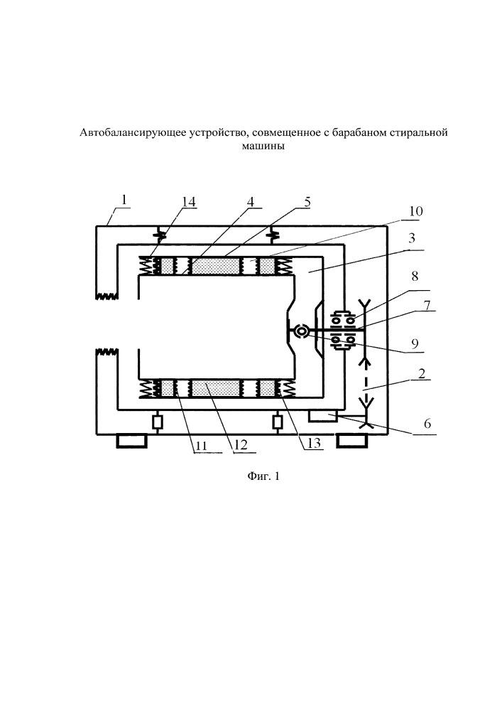 Автобалансирующее устройство для стиральных машин барабанного типа