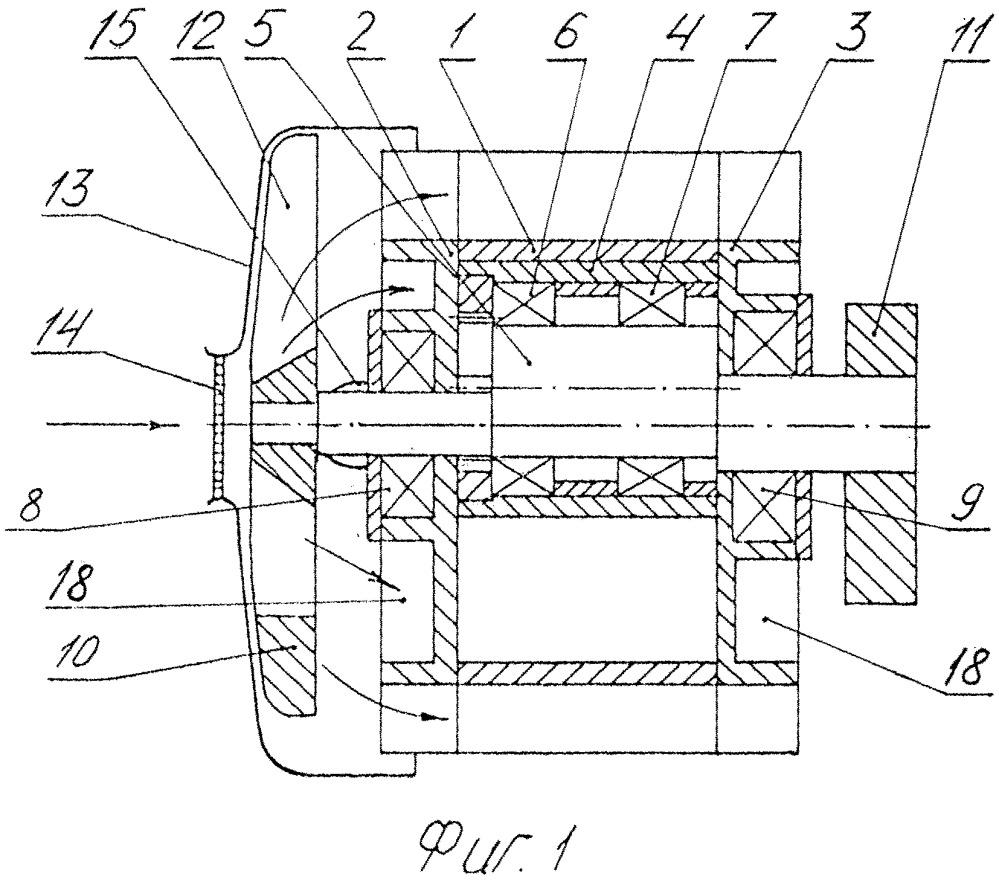 Одноступенчатый роторно-поршневой компрессор