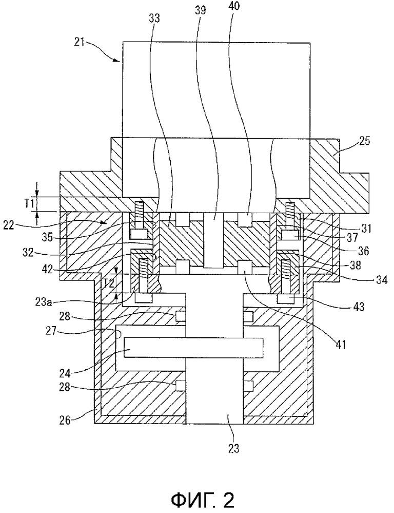 Механизм переменной степени сжатия для двигателя внутреннего сгорания