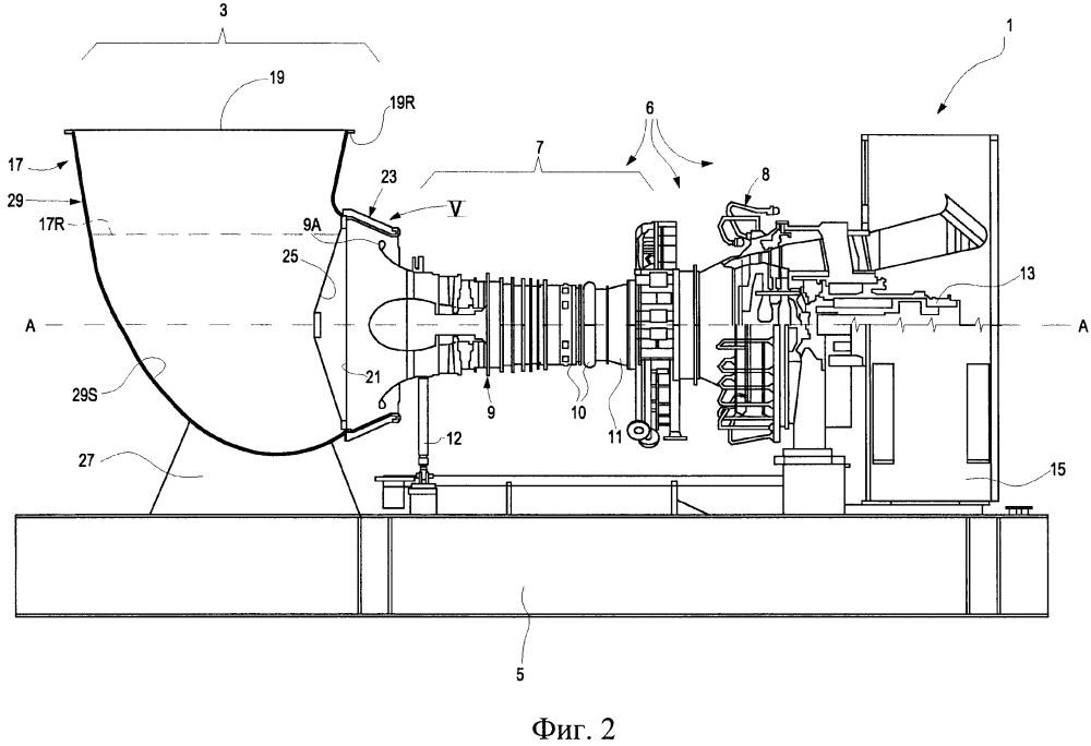 Впускная камера из композитного материала и установка с газотурбинным двигателем, содержащая указанную камеру