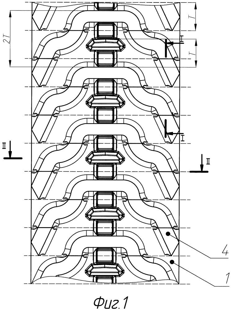 Бесконечная эластичная гусеница транспортного средства