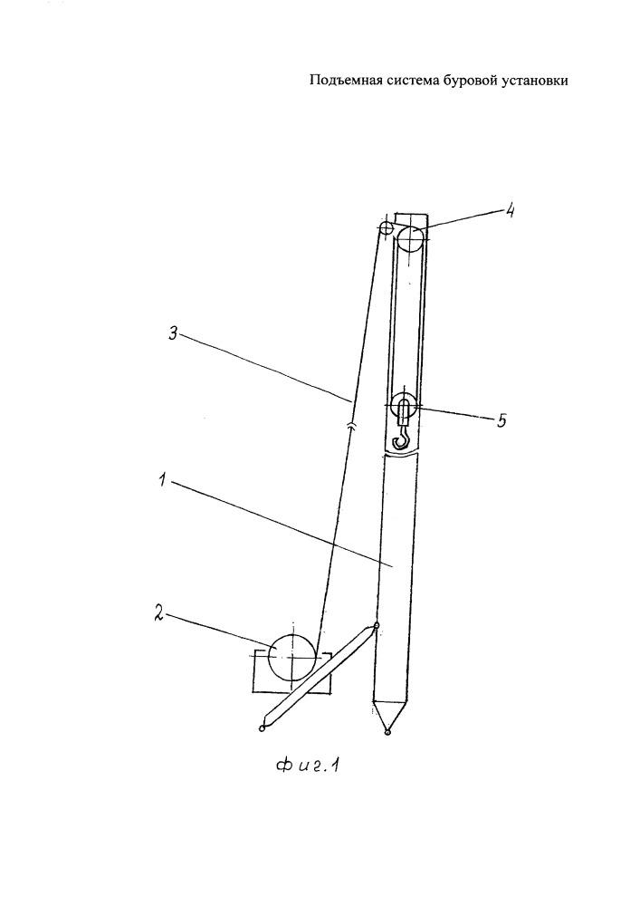 Подъемная система буровой установки