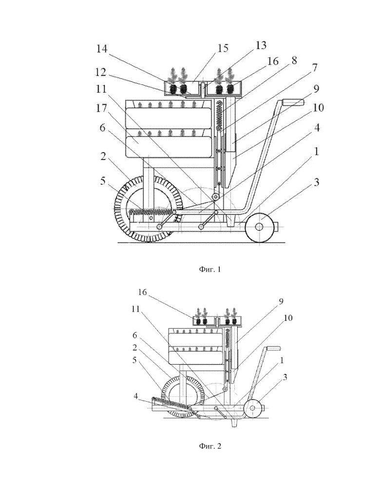 Ручное устройство для образования лунок под посадку контейнеризированных сеянцев