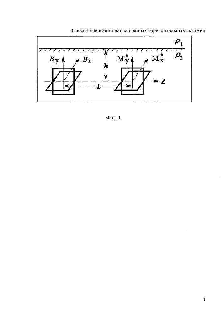 Способ определения расстояния до границы сред с различными удельными электрическими сопротивлениями для геонавигации ствола горизонтальных скважин