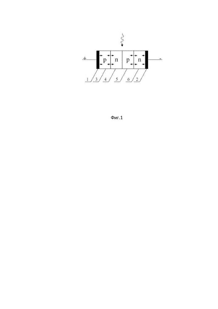 Прецизионный датчик фотонов на полупроводниковом тиристоре с одним фоточувствительным n-p-переходом и двумя светоизлучающими p-n-переходами