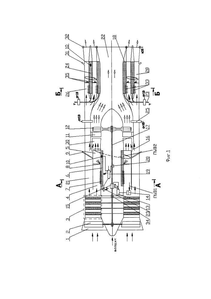 Турбореактивный двигатель и способ его работы