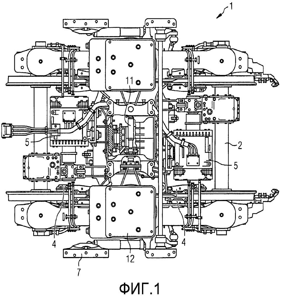 Моторное шасси для рельсовых транспортных средств